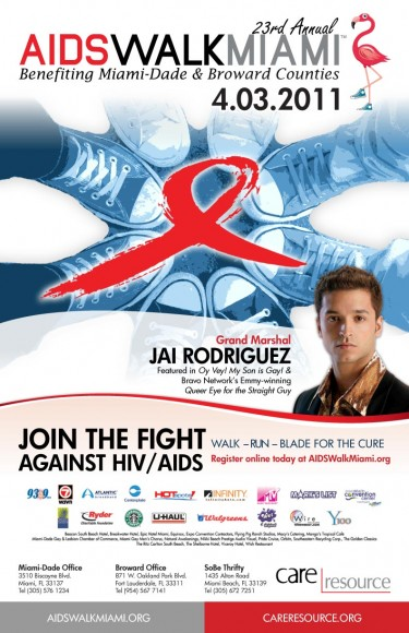 AIDS Walk Miami 2011 w/ Grand Marshal Jai Rodriguez | Epiksol Creative
