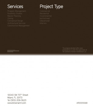 Brown Architecture Brochure - Back | Epiksol Creative