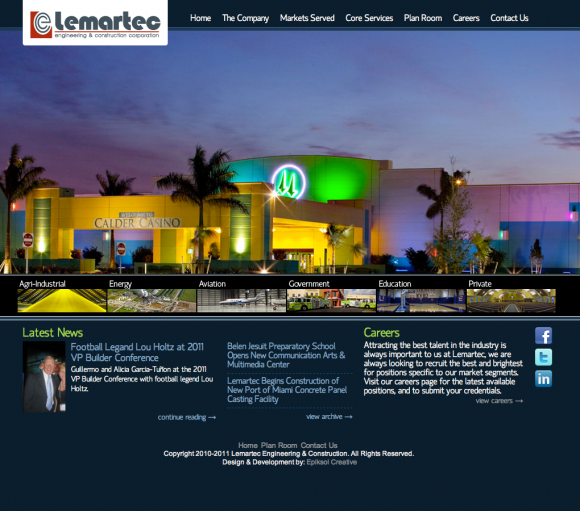 Lemartec Engineering & Construction Redevelopment | Epiksol Creative